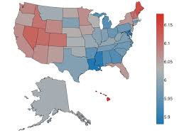 Map Of Red And Blue States by Where Is The Happiest City In The Usa