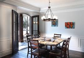 Chair Rail Ideas For Dining Room Contemporary Dining Room With French Doors By Bobby Wantland