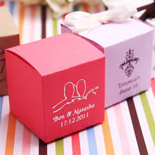 personalized favor boxes personalized colored square favor box personalized favor