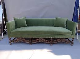 18th century spanish colonial base tuxedo couch sold f1172 early