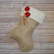 burlap christmas personalized ruffled burlap christmas with