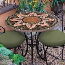 Mosaic Bistro Table Knf Garden Designs 30 Iron Mosaic Bistro Set For 2 30set2