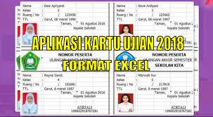 format absensi ujian aplikasi kartu ujian us un try out pra uas format excel