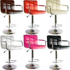 furniture red bar stools design with brown wooden floor and small