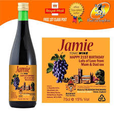 birthday wine personalised tonic wine bottle label birthday christmas any