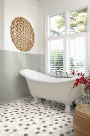 Traditional Bathtub Victorian House Bathroom Contemporary With Multi Color Tiles