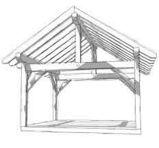 Building A Hip Roof Patio Cover by 14x16 Timber Frame Timber Frame Hq