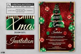 christmas invitations templates invitation template psd v 7