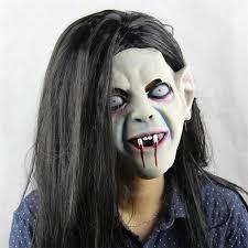 Latex Halloween Costume 2015 Halloween Horror Nights Grudge Sadako Head Mask
