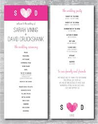 sided wedding programs printable wedding program sided modern thumbprint