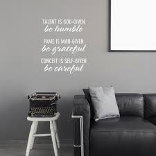 be careful wall quote decal