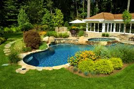 Landscaping Backyard Ideas Inexpensive Patio Magnificent Pool And Garden Design Part Landscaping Ideas