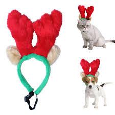Dog Christmas Ornaments 1pcs X Cute Pet Christmas Reindeer Antlers Headband Party Prop
