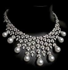 pearl necklace with diamond images Diamond and pearl necklace from arzano jewellery dubai jpg