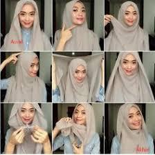 tutorial jilbab dua jilbab kumpulan gambar tutorial cara memakai hijab dua warna hijab
