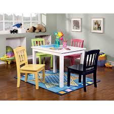 Multi Coloured Chairs by Lipper Hugs And Kisses Table And 2 Chair Set White U0026 Blue