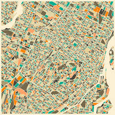 Map Of Montreal Montreal Map Digital Art By Jazzberry Blue