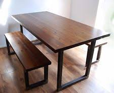 rustic dining table with bench rustic table and bench ebay