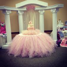 Light Pink Table Cloth Babyshower Cake Tulle Table Skirt Tutu Partyyyy On