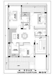 image of floor plan 20 50 duplex house floor plan ghar banavo