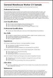 general warehouse resume sle 28 images warehouse associate