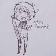 i need ideas of what to draw heh hetalia characters only maybe ocs