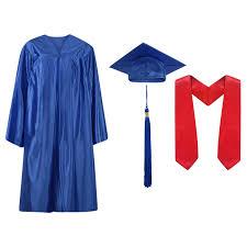 blue cap and gown cap and gown cap gown and tassel graduation stole
