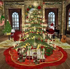 second life marketplace victorian christmas tree set tree tree