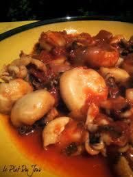 cuisiner des seiches petites seiches un peu comme à sète le plat du jour