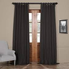 Charcoal Grey Blackout Curtains Exclusive Fabrics Charcoal Grommet Top Blackout Curtain Panel Pair