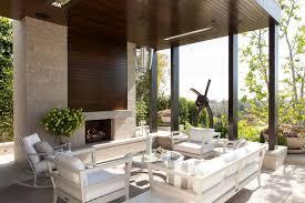 los angeles hidden tv cabinet patio contemporary with indoor