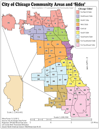 Map Chicago by Community Areas In Chicago Wikipedia