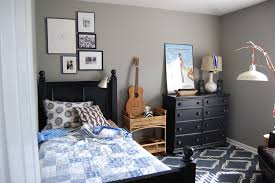 Bedroom Bed In Corner Bedroom Enticing Black Wooden Cabinet 8 Drawer Placed On The