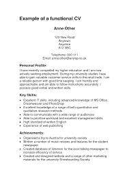 A Functional Resume 100 Functional Resume Template Sales Accounting Clerk