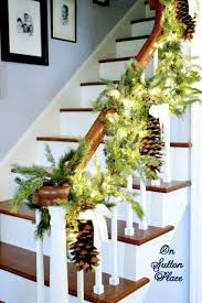 Banister Christmas Garland Pretty Christmas Staircases Omg Lifestyle Blog