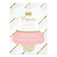 princess baby shower invite faux glitter card zazzle