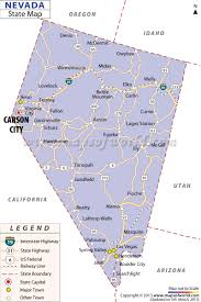Map Of Nevada And Surrounding States Nevada Map Free Large Images