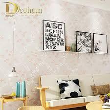 living pink beige purple pastoral floral wallpaper for walls