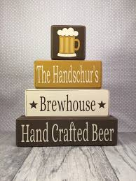 personalized craft beer decor home brewers home apple jack personalized craft beer decor custom stacking wood blocks brewhouse last name custom beer brewer gift man