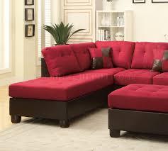 Sofa Ottoman Sectional Sofa W Ottoman By Boss In Carmine Linen Fabric