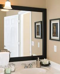 attractive bathroom mirror frame ideas easy diy mirror ideas