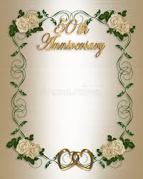 Greetings For 50th Wedding Anniversary 50th Wedding Anniversary Invitation Stock Photography Image 4246982