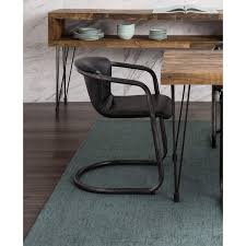 Rustic Industrial Dining Chairs Aurelle Home Classic Rustic Leather Industrial Dining Chair Set