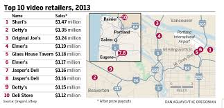 Beaverton Oregon Map by Top 10 Video Lottery Retailers In Oregon For 2013 Oregonlive Com