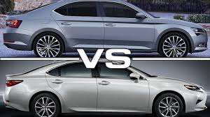 lexus es whatcar 2016 skoda superb vs 2016 lexus es youtube