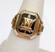 high school class ring companies 10 kt wharton high school 1943 class ring