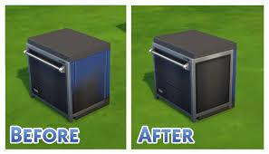 Dishwasher Enclosure Mod The Sims Dine Out Dishwasher Mesh Default
