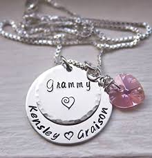 necklace with kids names custom personalized necklace jewelry