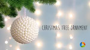diy christmas tree ornament with pearls youtube