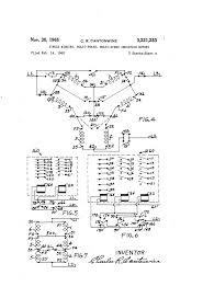 patent us3221233 single winding multi phase speed drawing wiring